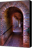 Tlaquepaque Canvas Prints - The Hallway at Tlaquepaque Canvas Print by David Patterson