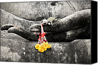 Asia Digital Art Canvas Prints - The Hand of Buddha Canvas Print by Adrian Evans