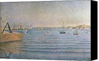 Signac Canvas Prints - The Harbour at Portrieux Canvas Print by Paul Signac