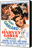 1946 Movies Canvas Prints - The Harvey Girls, Judy Garland, 1946 Canvas Print by Everett
