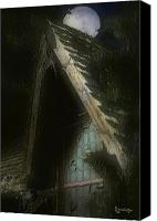 Haunted House Canvas Prints - The Haunted Gable Canvas Print by RC DeWinter