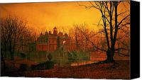 Haunted House Canvas Prints - The Haunted House Canvas Print by John Atkinson Grimshaw