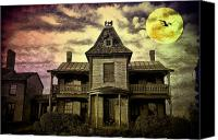 Haunted House Canvas Prints - The Haunted Mansion Canvas Print by Bill Cannon