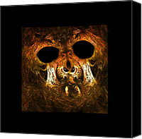 Frightening Digital Art Canvas Prints - The Haunting Canvas Print by Paul St George