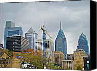 Phillie Canvas Prints - The Heart of the City - Philadelphia Pennsylvania Canvas Print by Carol Senske