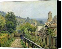 Louveciennes Painting Canvas Prints - The Heights at Marly Canvas Print by Alfred Sisley
