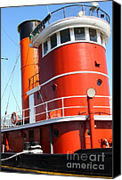 Hyde Street Pier Canvas Prints - The Hercules . A 1907 Steam Tug Boat At The Hyde Street Pier in San Francisco California . 7D14140 Canvas Print by Wingsdomain Art and Photography