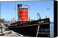 Hyde Street Pier Canvas Prints - The Hercules . A 1907 Steam Tug Boat At The Hyde Street Pier in San Francisco California . 7D14141 Canvas Print by Wingsdomain Art and Photography