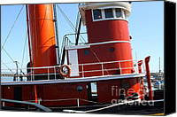 Hyde Street Pier Canvas Prints - The Hercules . A 1907 Steam Tug Boat At The Hyde Street Pier in San Francisco California . 7D14143 Canvas Print by Wingsdomain Art and Photography