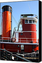 Hyde Street Pier Canvas Prints - The Hercules . A 1907 Steam Tug Boat At The Hyde Street Pier in San Francisco California . 7D14144 Canvas Print by Wingsdomain Art and Photography
