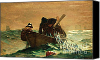 Stormy Canvas Prints - The Herring Net Canvas Print by Pg Reproductions