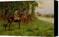 Approaching Canvas Prints - The Highwaymen Canvas Print by George Derville Rowlandson