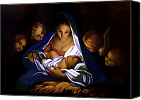 Christmas Cards Canvas Prints - The Holy Night Canvas Print by Carlo Maratta