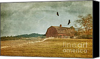 Barn Mixed Media Canvas Prints - The Homecoming Canvas Print by Reflective Moments  Photography and Digital Art Images