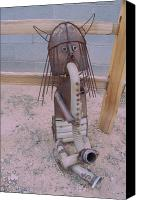 Home Decor Sculpture Canvas Prints - The Horny Viking Canvas Print by JP Giarde