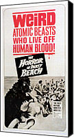 Horror Canvas Prints - The Horror Of Party Beach, 1964 Canvas Print by Everett