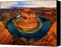 Large Format Horse Print Canvas Prints - The Horseshoe Bend Canvas Print by Daniel Chui