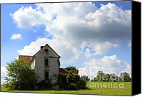 Haunted House Canvas Prints - The House On the Hill Canvas Print by Karen Wiles