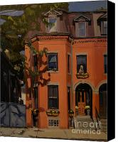 Boston Painting Canvas Prints - The House Sitter Canvas Print by Deb Putnam