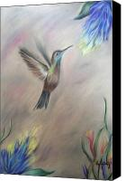 Movement Pastels Canvas Prints - The Hum of Nature Canvas Print by Karina Repp