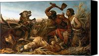 Dogs Painting Canvas Prints - The Hunted Slaves Canvas Print by Richard Ansdell
