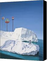 Food Painting Canvas Prints - The Iceberg Canvas Print by Scott Listfield