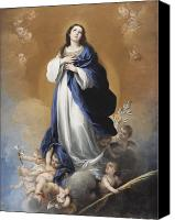 Virgin Mary Painting Canvas Prints - The Immaculate Conception  Canvas Print by Bartolome Esteban Murillo
