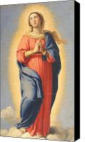 Conception Canvas Prints - The Immaculate Conception Canvas Print by Il Sassoferrato