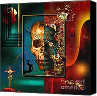 Imaginative Canvas Prints - The Inconceivability Of The Being Canvas Print by Franziskus Pfleghart