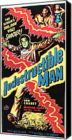 1956 Movies Canvas Prints - The Indestructible Man, Lon Chaney Jr Canvas Print by Everett