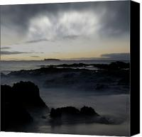 Hawaii Beach Art Canvas Prints - The Infinite Spirit  Tranquil Island of Twilight Maui Hawaii  Canvas Print by Sharon Mau