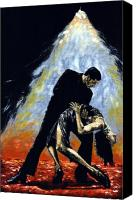 Dance Canvas Prints - The Intoxication of Tango Canvas Print by Richard Young