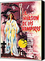 1960s Poster Art Canvas Prints - The Invasion Of The Vampires, Aka La Canvas Print by Everett