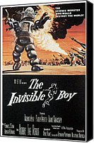 1950s Poster Art Canvas Prints - The Invisible Boy, Robby The Robot Canvas Print by Everett