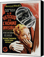 Bandages Canvas Prints - The Invisible Man Returns Aka Le Retour Canvas Print by Everett