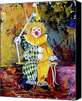 Clown Canvas Prints - The invisible tears of the clown  Canvas Print by Kasia Turajczyk