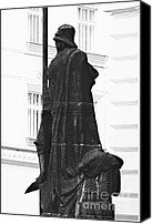 Vertical Canvas Prints - The Iron Knight - Darth Vader watches over Prague CZ Canvas Print by Christine Till