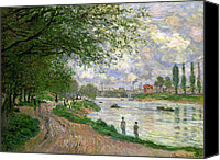 Factories Canvas Prints - The Island of La Grande Jatte Canvas Print by Claude Monet