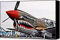 Warbird Photo Canvas Prints - The Jacky C Canvas Print by DJ Florek