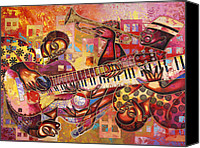 Diversity Canvas Prints - The Jazz Dimension  Canvas Print by Larry Poncho Brown