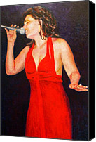 Singer Painting Canvas Prints - The Jazz Singer Canvas Print by Michael Durst