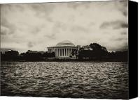 D.c. Digital Art Canvas Prints - The Jefferson Memorial Canvas Print by Bill Cannon