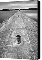 Concrete Canvas Prints - The Jetty Canvas Print by Adam Romanowicz