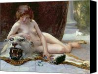 Lion Painting Canvas Prints - The Jewel Case Canvas Print by Guillaume Seignac