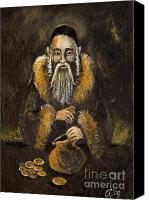 Rabbi Canvas Prints - The Jewish Banker  Canvas Print by Angel  Tarantella