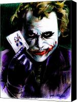 Clown Canvas Prints - The Joker Canvas Print by Lin Petershagen