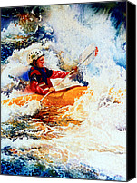 Sports Art Painting Canvas Prints - The Kayak Racer 19 Canvas Print by Hanne Lore Koehler