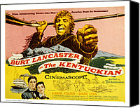 1955 Movies Canvas Prints - The Kentuckian, Burt Lancaster, 1955 Canvas Print by Everett