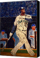 Baseball Pastels Canvas Prints - The Kid feat Ken Griffey Jr Canvas Print by D Rogale