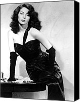 Satin Dress Canvas Prints - The Killers, Ava Gardner, 1946 Canvas Print by Everett